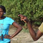 mole np - discussing wildlife on walking safari